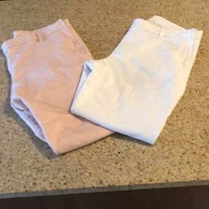 Bundle of two pairs of cropped dress pants